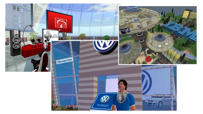 Algumas empresas arriscaram investir no Second Life (Foto: Reprodução)